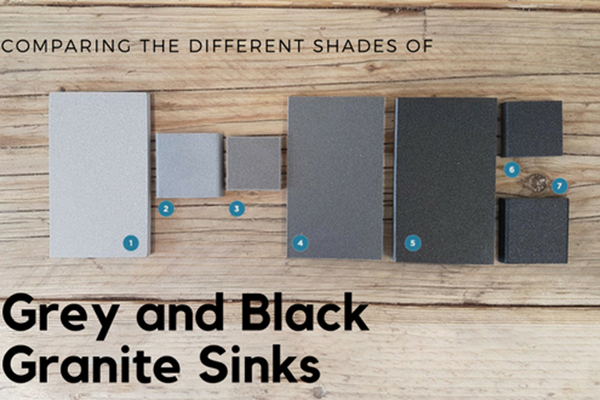 Comparing the Different Shades of Grey and Black Granite Kitchen Sinks