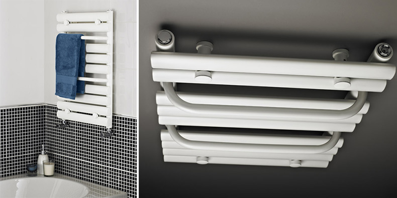 white-heated-towel-rail