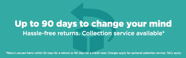90 day hassle free returns. T&Cs apply