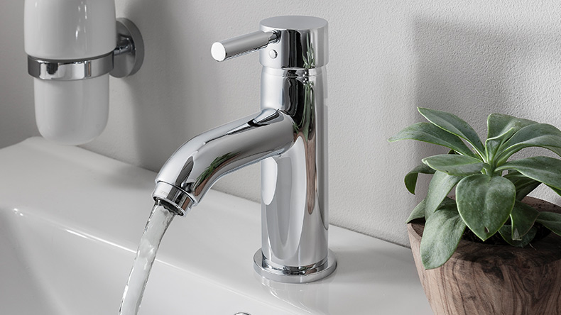 Basin Tap /& Bath Filler Tap Set Round Modern Chrome Luxury Straight Tec Lever