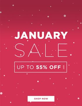 January Sale - up to 55% off RRP